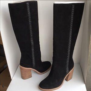 ❤️New Ugg Maeva Black Tall Suede boots Sz 11